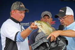 Day-two co-angler leader Nicolas Supik slipped to fourth on day three.