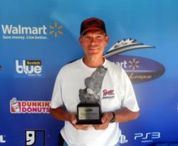 David Snow of Lanesville, Ind., earned $1,753 as the co-angler winner of the Aug. 27 BFL Hoosier event.