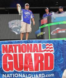Ryan Ingalls shows off a 3-pounder for fourth-place Christopher Newport.