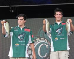 Brothers Dan Infurna and Patrick Infurna moved Castleton State College up from 14th place to 8th on day two.