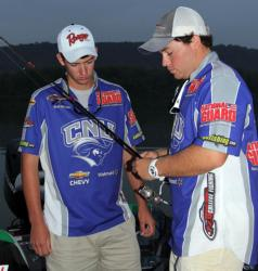 Representing Christopher Newport, Ryan Ingalls and Derek Berhalter will focus on finesse tactics for largemouth bass today.