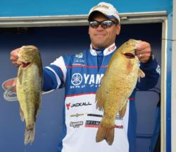 Second-place pro David Wolak once again used a mix of largemouths and smallmouths in reaching 22-8.