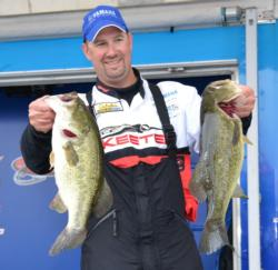 Pro Daryl Biron caught a mixed bag worth 21-4 to finish the opening day in fourth place.