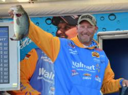 Wesley Strader finished in fifth place after catching a 17-pound, 13-ounce limit Sunday.
