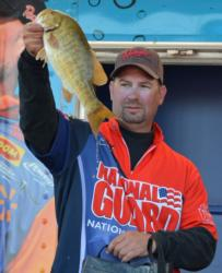 Pro Daryl Biron caught a four-day total of 72 pounds, 15 ounces to finish the Lake Champlain event in third place.