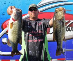 Fifth-place pro Steve Adams split his day between topwater and subsurface presentations.