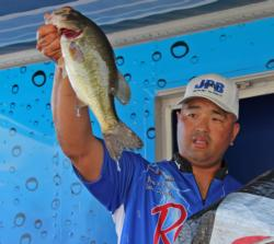 Flipping and topwaters were the main tactics for fourth-place pro Ken Mah.