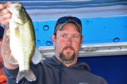 Co-angler Robert Gerber of The Plains, Va., used a total catch of 35 pounds, 12 ounces to finish the EverStart Potomac River event in second place.