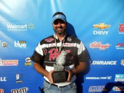 Heath Daniel of Dadeville, Ala., earned $2,441 as the co-angler winner of the Oct. 1-2 BFL Bama Super Tournament.