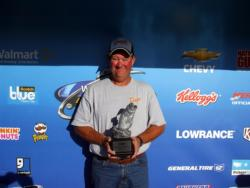 Dale Roden of Stillwater, Okla., earned $2,999 as the co-angler winner of the Oct. 1-2 BFL Okie Super Tournament.