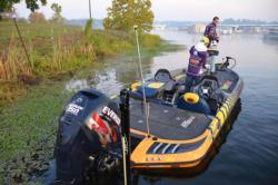The University of Wisconsin, Whitewater team heads out onto Kinkaid Lake.