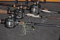 A selection of reaction baits including spinnerbaits, topwaters and spoons will give anglers plenty of diversity for finding the finicky Table Rock bass.