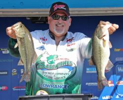 Second-place pro Tom Murphy caught most of his fish around docks on day two.