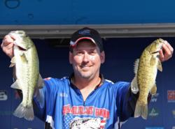 Top co-angler Robert Nosbisch carries a lead of just 6 ounces into day three.