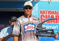 Robbie Dodson was the only top-10 angler to catch a limit all three days.
