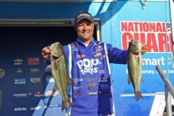 Nabbing the biggest sack of day three, Pop-Tarts pro Greg Bohannan jumped from ninth place to third.
