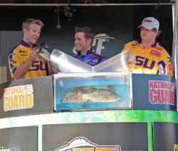 Crankbaits have been the ticket all week for fourth-place LSU