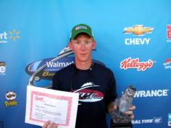 Co-angler Tyler Gregory of Pine Knot, Ky., earned a Ranger boat and motor package for his BFL Regional win on Wheeler Lake.