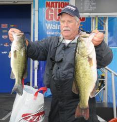 Second-place pro Marshall Deakins caught a 21-pound, 3-ounce limit Thursday.