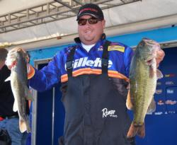 Fifth-place pro Jacob Powroznik has a two-day total of 34 pounds.