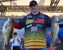 Second-place pro Robert Behrle caught a 24-pound, 3-ounce limit Saturday.