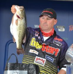 Second-place pro Robert Behrle caught a 20-pound, 6-ounce stringer Sunday, pushing his total weight to 85 pounds, 5 ounces.