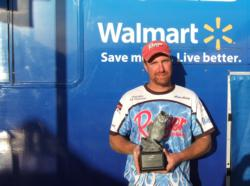 Aaron Arning of Walnut Hill, Ill., earned a Ranger boat with a 200-horsepower outboard as the co-angler winner of the BFL Regional Championship on the Barren River.