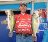 Jess Caraballo of Danbury, Conn., moves to third place on day two with a total of 30-14