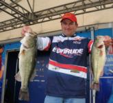 Jeremy Guidry of Opelousas, La., holds down the fourth place spot with a two-day total of 29 pounds, 14 ounces.