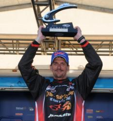 Troy Anderson of Galesville, Wis., wins the Co-angler Division of the EverStart Series Championship with a three-day total of 42-3.
