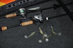 The Alabama rig and a topwater walker sum up the arsenal on Kentucky Lake.