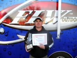 Kurt Moser of Max Meadows, Va., earned a Ranger boat with an outboard engine as the co-angler winner of the BFL Regional on Lake Hartwell.