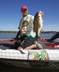 Diet Mountain Dew pro Jason Christie will try different retrives to see if he can get a reaction strike.