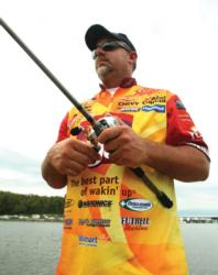 Folgers pro Scott Suggs is adept at many jig tactics, but he says slow-rolling is one of the best for drawing reaction strikes.