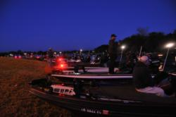 EverStart Southeast Division anglers await dawn to kick off the 2012 season.