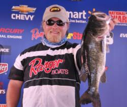 Justin Jones of Apex, N.C., shares the lead in the Co-angler Division of the EverStart event on Lake Okeechobee with 12 pounds, 2 ounces.