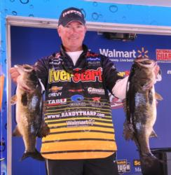Randall Tharp is tied for second with 19 pounds, 2 ounces.