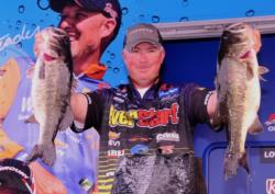 Comeback limit of the day: EverStart pro Randall Tharp of Gardendale, Ala., weighed in 28 pounds, 14 ounces, moving him up from fifth to second with a three-day total of 62 pounds.