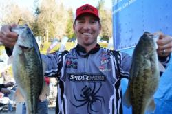 For the second straight day, pro Zack Thompson of Alameda, Calif., found himself in the runner-up position on Lake Shasta.