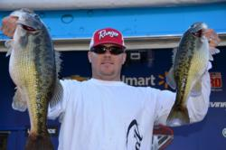 Pro Willie Church of Cottonwood, Calif., heads into the finals on Lake Shasta in third place.