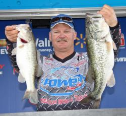 Day-one leader Trent Huckaby slipped to fifth on the second day.