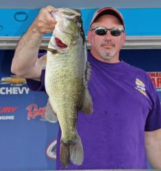 Top co-angler Travis Gray also caught his division