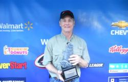 Bruce Thompson of Little Rock, Ark., finished in first place in the Co-angler Division at the Walmart BFL Arkie Division event on Lake Ouachita. Thompson used a total catch of 13 pounds, 7 ounces to net over $2,000 in winnings.