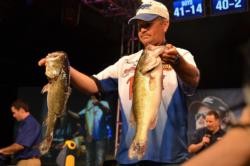 Bolstered by a total catch of 50 pounds, 9 ounces, Todd Auten of Lake Wylie, S.C., found himself in fifth place overall heading into tomorrow's finals.