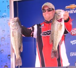 Bradley Enfinger of Colquitt, Ga., grabbed the second place spot after day one with four bass weighing 20 pounds, 2 ounces.