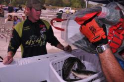 Brandon McMillan slipped to third with a two-day total of 34 pounds, 7 ounces.