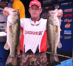 Keith Pace of Monticello, Ark., moved up to fourth place with a two-day total of 34 pounds, 1 ounce.