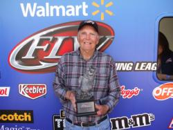 Vernon Jaycox of Lake Ozark, Mo., took home top honors in the Co-angler Division at the March 24 Walmart BFL Ozark Division event on Lake of the Ozarks. Jaycox, who netted a total catch of 13 pounds, 11 ounces, took home more than $2,100 in prize money.