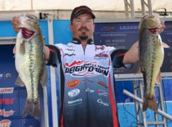 Troy Morrow made a huge comeback on day two - catching a 21-pound, 9-ounce stringer.