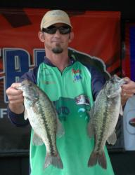 Leapfrogging from third to second in TBF National Championship competition was Jeff Erickson of Phoenix, Az., with a limit of bass weighing 12 pounds, 13ounces.